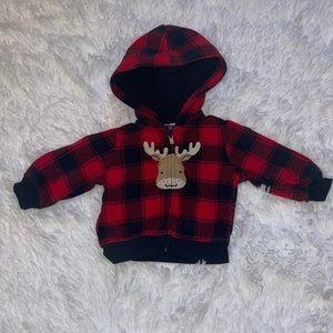 $6 Sale Carter's Buffalo Plaid Hooded Jacket